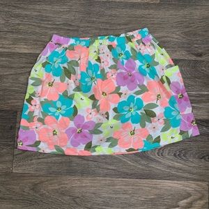 Carters kids skirt floral with pockets!!